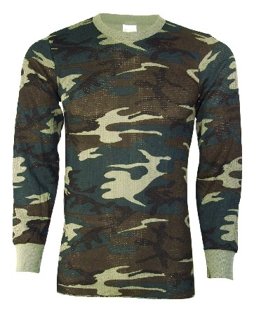 Camo Cotton Poly Thermal