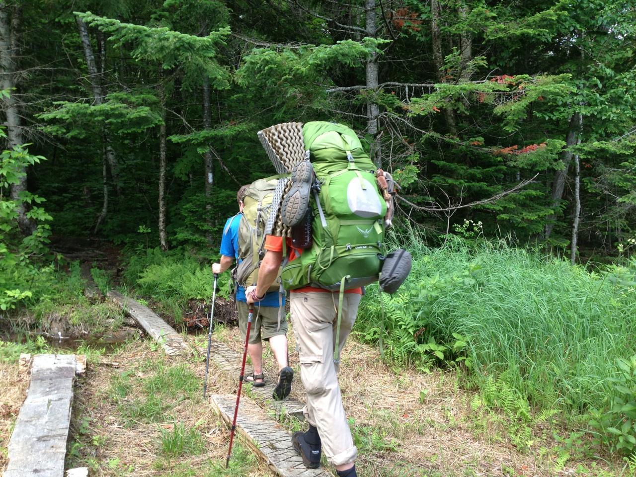 hiking away