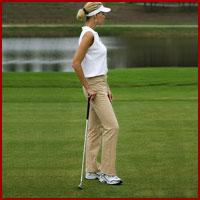 Lady golfing