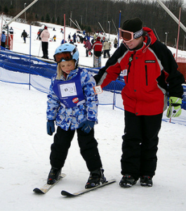 teach kids to ski or snowboard