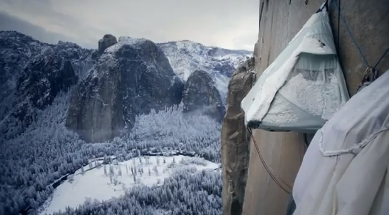 Tommy Caldwell Tent on Mountainside & Tommy Caldwell Climbs More Than Mountains / Outersports.com