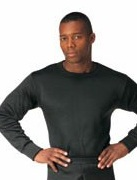Heavy Weight Polypropylene Thermal Underwear for Men or Women (Black)