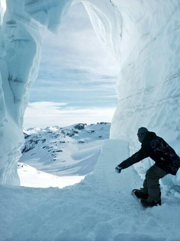 snowboarding ramp