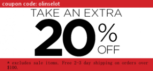 20% off coupon - olinselot