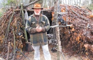 Dave shows us his trapping shelter