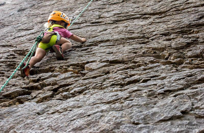 Little Girl Rock Climber