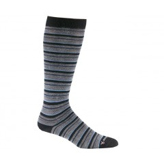 Black - Fox River Knee High Striper Merino Wool Socks