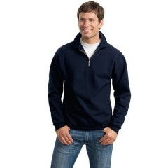 Jerzees SUPER SWEATS 1/4-Zip Sweatshirt with Cadet Collar for Men