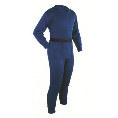 Navy - Coldpruf Cotton Polyester 2 Layer Long Johns for Youth
