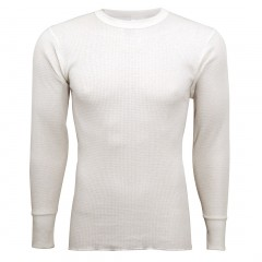 Indera Mills Lightweight Cotton Polyester Blend Waffle Knit Thermal Underwear Top for Men