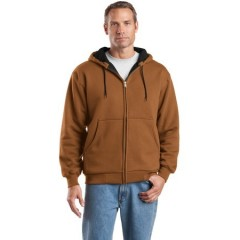 CornerStone Heavyweight Full-Zip Hooded Sweatshirt with Thermal Lining for Men