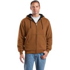 CornerStone Heavyweight Full-Zip Hooded Sweatshirt with Thermal Lining for Men