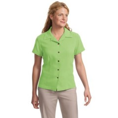 Port Authority Signature Silk Blend Camp Shirt for Women