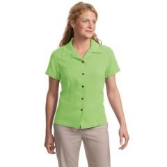 Port Authority Signature Silk Blend Camp Shirt for Women