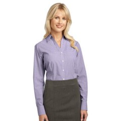 Port Authority Plaid Pattern Easy Care Shirt for Women