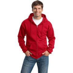 Port & Company 78-oz Full-Zip Hooded Sweatshirt for Men