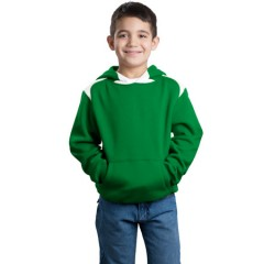 Sport-Tek Pullover Hooded Sweatshirt with Contrast Color for Youth