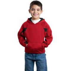 Sport-Tek Color-Spliced Pullover Hooded Sweatshirt for Youth