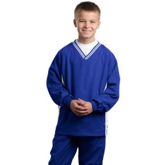 Sport-Tek Tipped V-Neck Raglan Wind Shirt for Youth