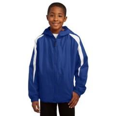 Sport-Tek Fleece-Lined Colorblock Jacket for Youth