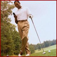 Guy golfing