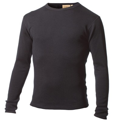 Minus33 100% Merino Wool Blend Black Top for Men