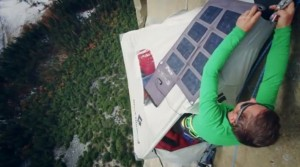 Mountain Climbing Tommy Caldwell Hangs Solar Panel to Charge iPhone