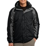 Layered camping jacket