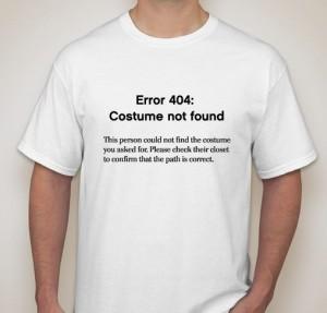 costume not found shirt